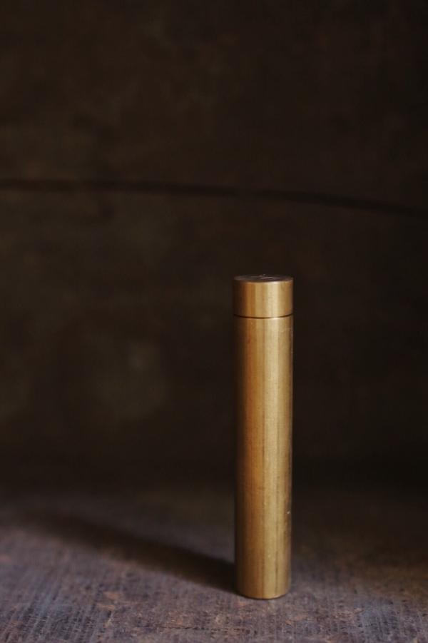 伏流物件|黃銅藏經筒