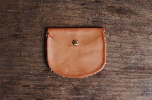 森林燦燦_植鞣皮革系列  橢圓無繩零錢包  兩色