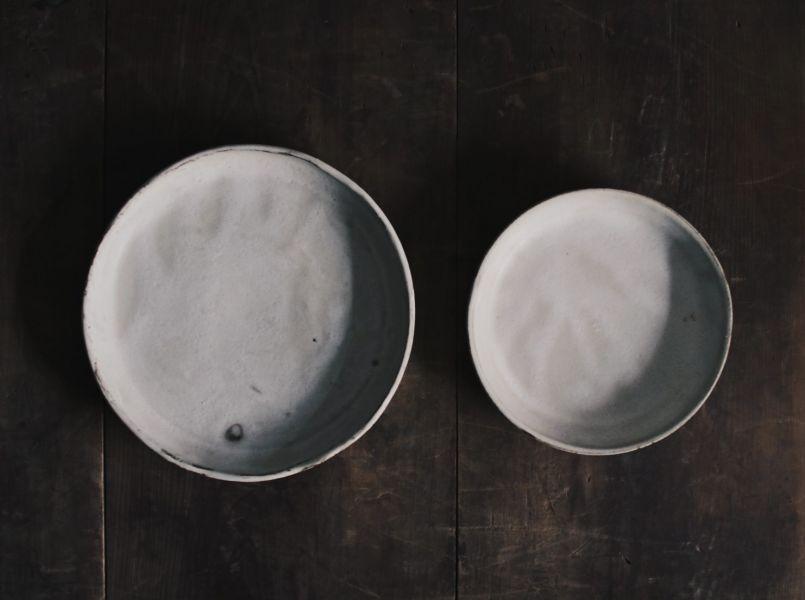 望氣 硯白 有邊盤