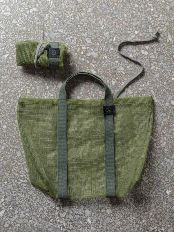 憶|蚊帳布再製提袋 軍綠