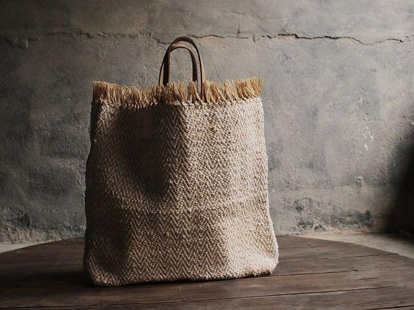 拉菲草手工編織提袋