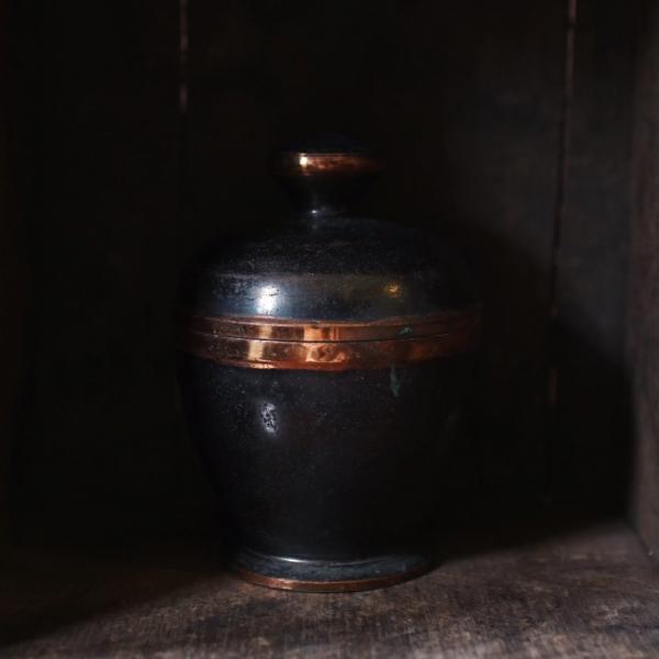 古董紅銅中藥罐