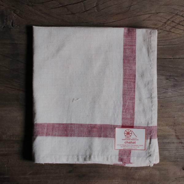 甘地織手帕 紅色紫色系