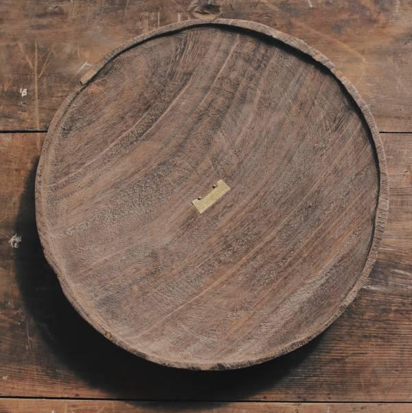 間作|鑲嵌黃銅非洲柚木盤 A