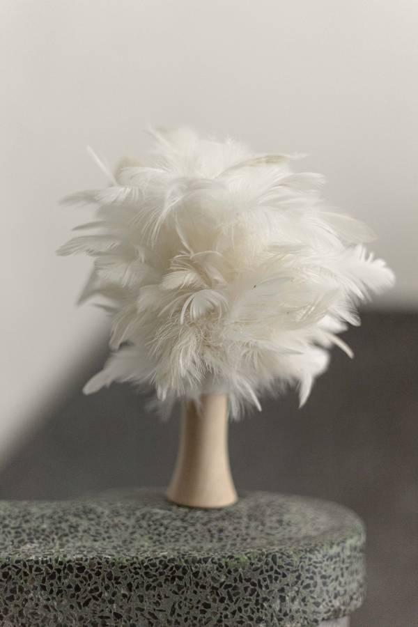 雪白雞 雞毛撣子
