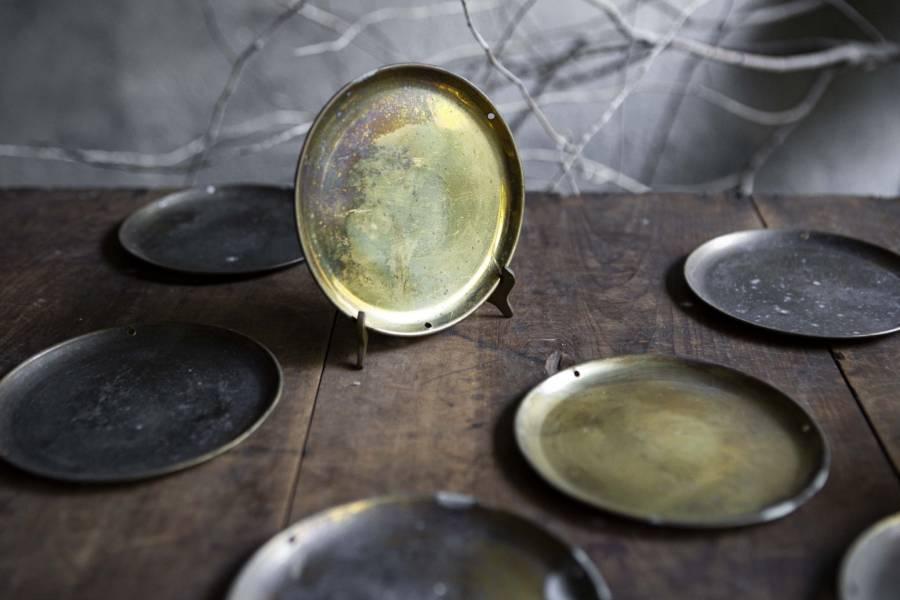 古物 早期純銅秤盤