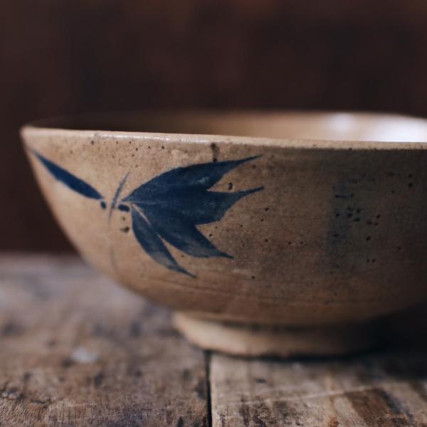 早期藍葉手繪大碗A
