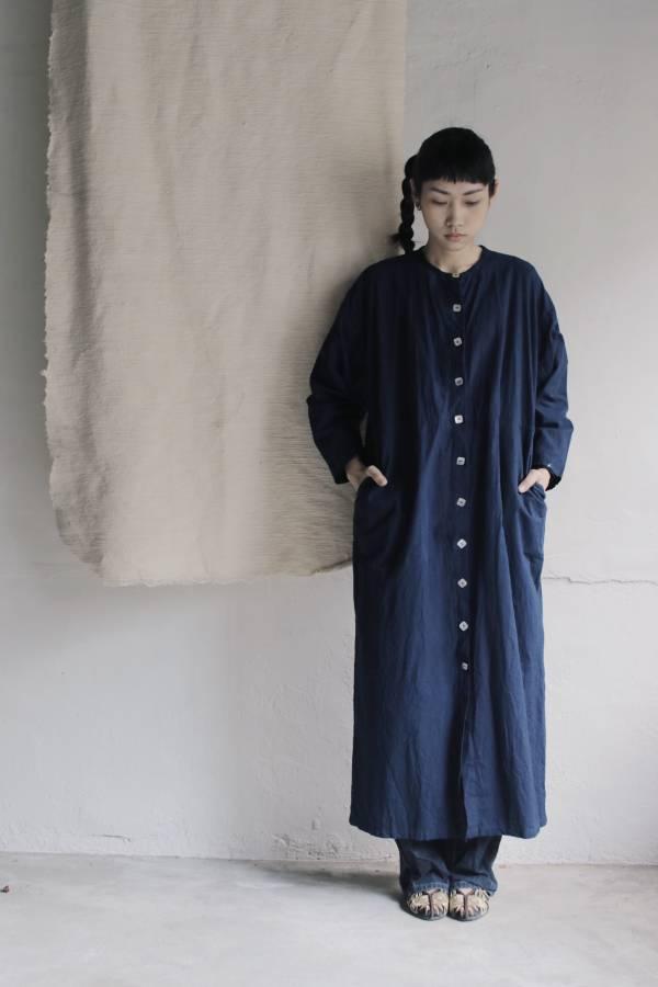 森林燦燦|服飾系列  藍染洋裝  藍