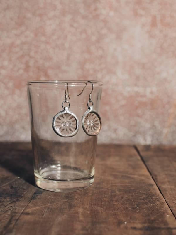 真真鑲嵌玻璃研究所 | 古玻璃耳環