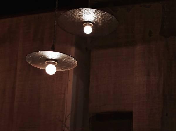 真真鑲嵌玻璃研究所 | 單片圓盤吊燈 l S號  十字紋