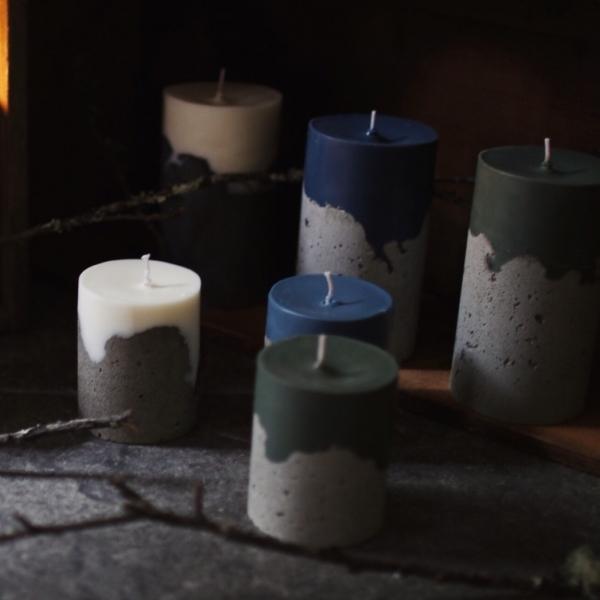 山 令 頁|鑿刻水泥蠟燭 (小)