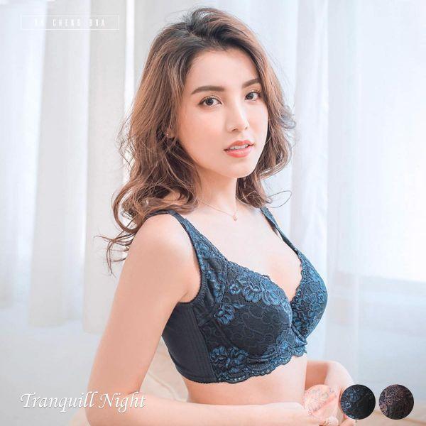 静谧夜空.超包覆蕾丝内衣 台湾第一品牌 台湾制内衣裤 平价品牌 好穿内衣