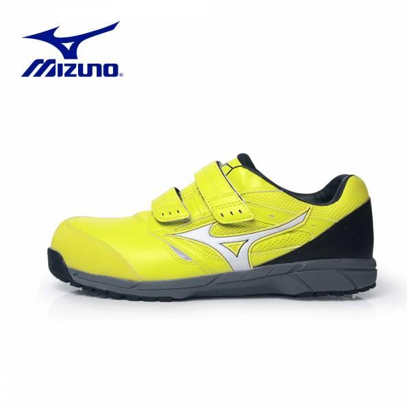MIZUNO【輕量防護鞋LS魔鬼氈-黃】F1GA200945 美津濃 安全鞋 塑鋼鞋 工作鞋 鋼頭鞋 防護鞋 塑鋼工作鞋 運動鞋 工作安全鞋 休閒鞋