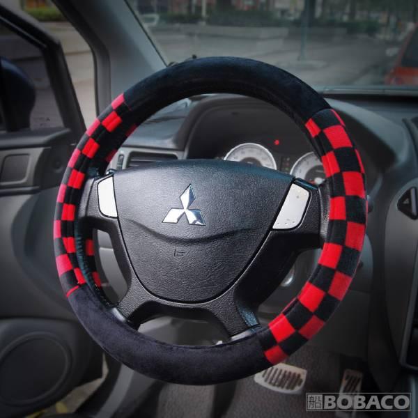 【絨布汽車方向盤套 (毛絨款)(M)】紅黑色 賽車款 暖手方向盤套 車用 溫暖 方向盤保護套 【絨布汽車方向盤套 (毛絨款)(M)】紅黑色 賽車款 暖手方向盤套 車用 溫暖 方向盤保護套
