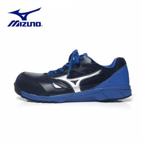 MIZUNO【輕量防護鞋LS鞋帶式-黑藍】F1GA200809 美津濃 安全鞋 塑鋼鞋 工作鞋 鋼頭鞋 防護鞋 塑鋼工作鞋 運動鞋 工作安全鞋 休閒鞋