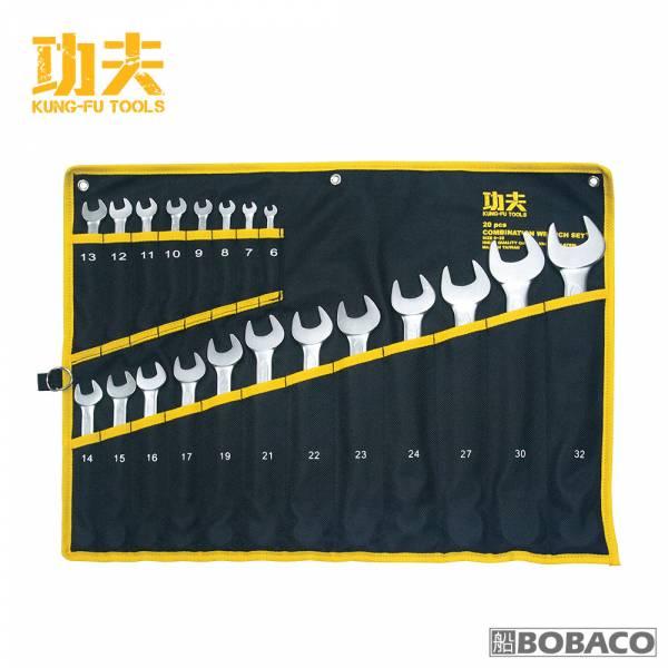 功夫【梅開扳手組-20支組 / 6-32】台灣製扳手 五金工具 專業手工具 扳手套組 板手 手工具扳手 功夫【梅開扳手組-20支組 / 6-32】台灣製扳手 五金工具 專業手工具 扳手套組 板手 手工具扳手