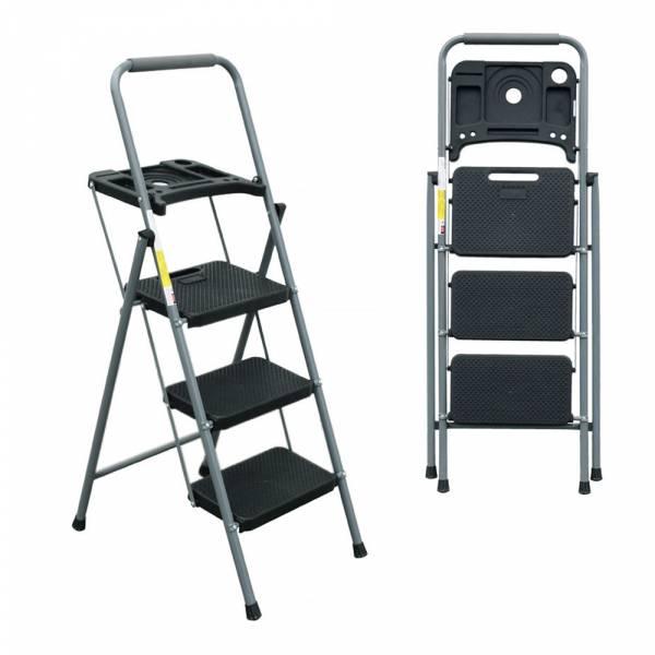 【3階工具盤鐵梯】三階梯 安全折疊梯 工具梯 摺疊梯 家用梯 A字梯 防滑梯 樓梯椅 鐵製梯子 【3階工具盤鐵梯】三階梯 安全折疊梯 工具梯 摺疊梯 家用梯 A字梯 防滑梯 樓梯椅 鐵製梯子