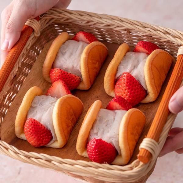 草莓元寶(6入) 草莓蛋糕,台北草莓蛋糕,草莓蛋糕推薦,唐緹,草莓控,芋泥,芋泥控