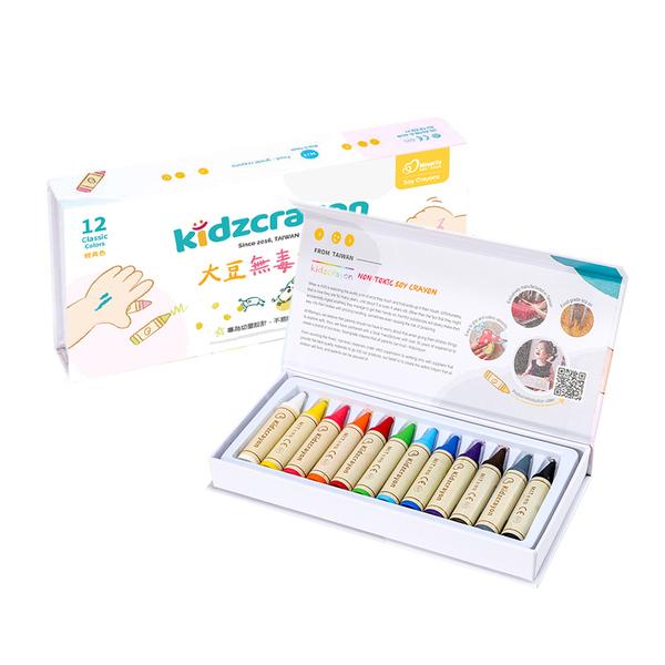 【Kidzcrayon】12色大豆無毒蠟筆