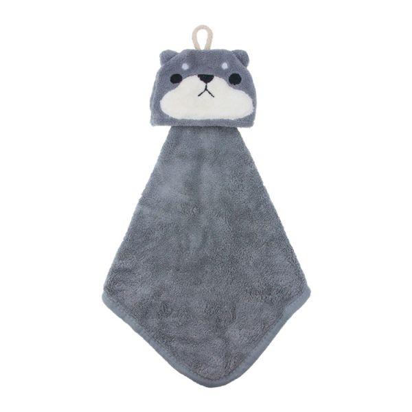 灰柴犬擦手巾 擦手巾,珊瑚絨,吸水力,擦手,毛巾,innogoods,事事好物