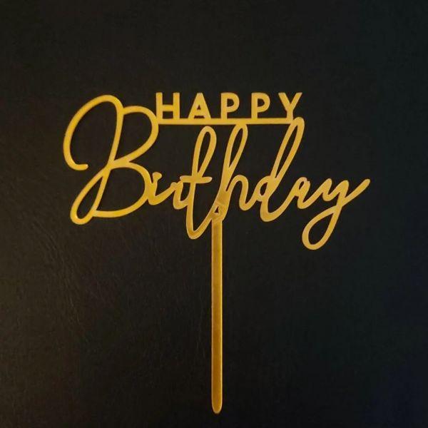 Happy Birthday插牌