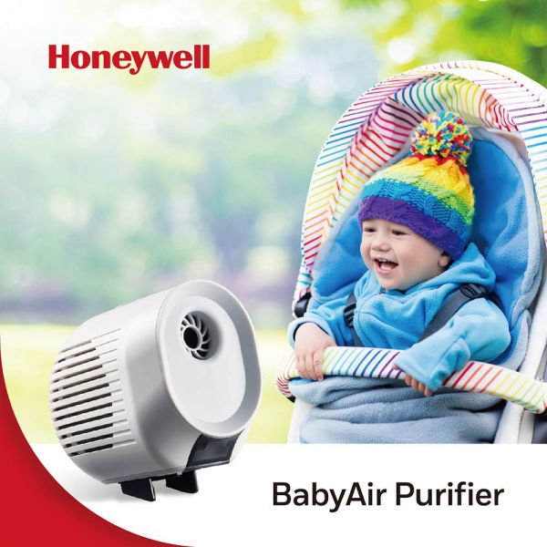 Honeywell BabyAir 嬰兒車用戶外空氣清淨機(加贈簡潔口罩100片) 空氣清淨機 嬰兒車  過濾 細菌 室外空氣 好空氣 H12 HEPA 水霧加濕 夾具 鋰電池
