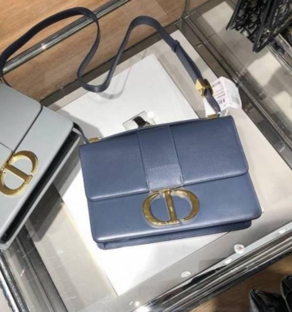 Dior 30 Montaigne 頂級光滑小牛皮包 霧面金釦    丹寧藍色 Bottega Veneta
