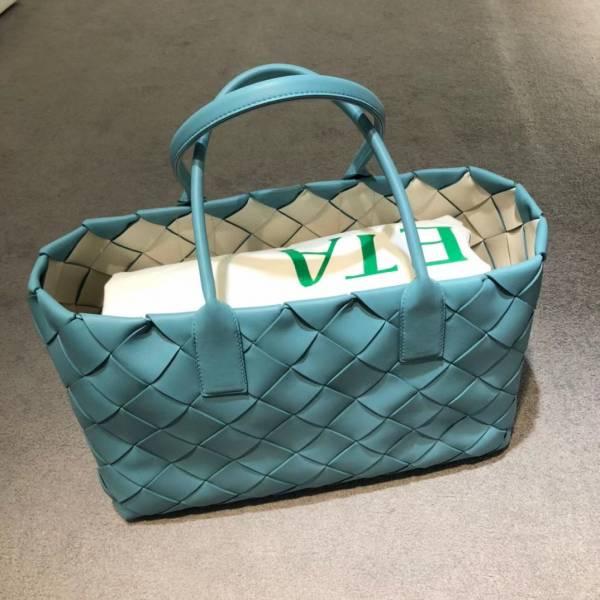 Bottega Veneta 603817 寬編織大款Cabas托特子母包    天藍色