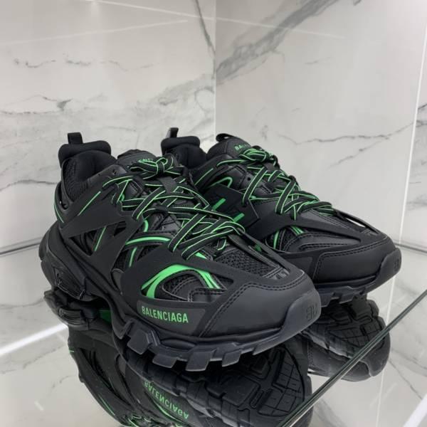 Balenciaga 男款 Track 2 黑色及螢光色運動鞋  IT 40/41/42/43
