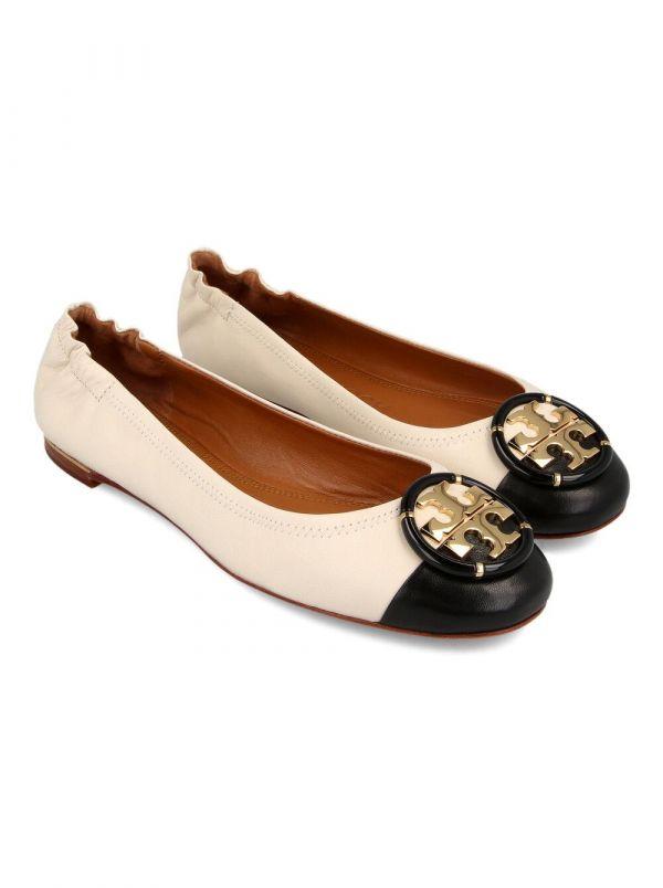 Tory Burch 女款 Minnie黑白雙色芭蕾平底鞋     IT 35/36/36.5/37/38/39