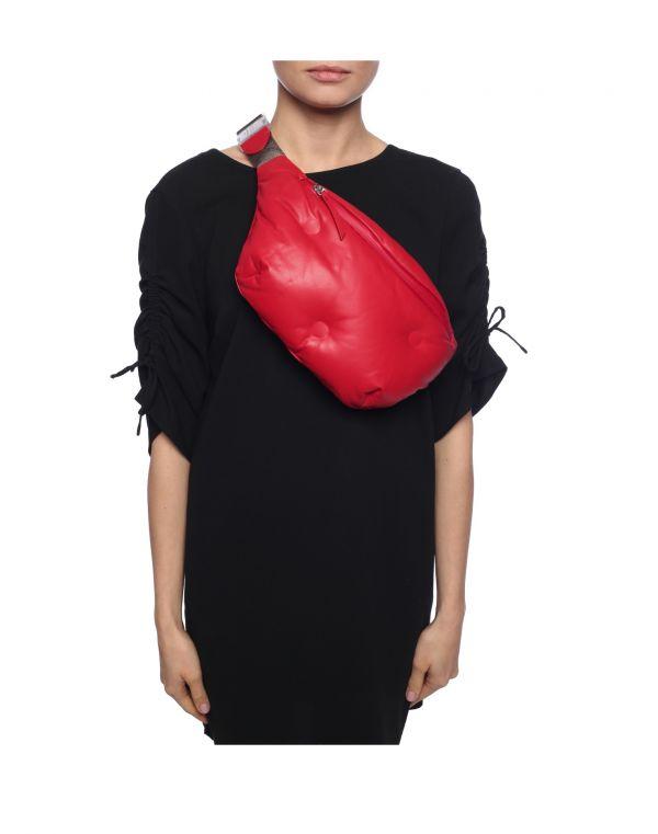 Maison Margiela 小羊皮中款 Glam Slam 腰包/胸前包  紅色 Bottega Veneta