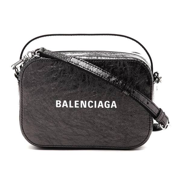 Balenciaga 6086531 Everyday Camera XS   小牛皮相機斜背包 金屬感的銀黑
