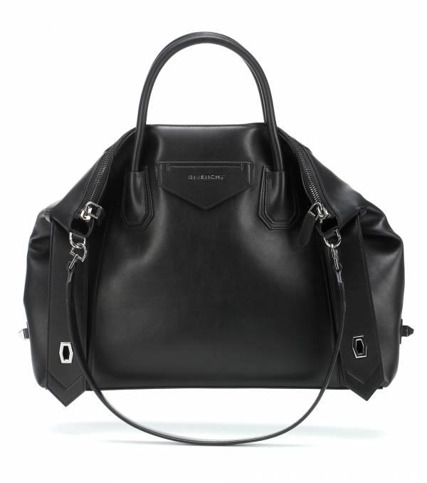 Givenchy 中款 Antigona Soft 柔軟小牛皮包 黑色