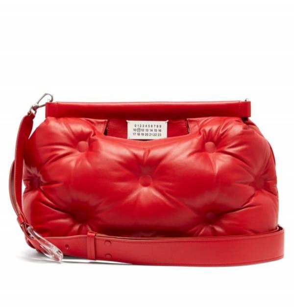 Maison Margiela 羊皮中款 Glam Slam 雲朵包 紅色 Bottega Veneta