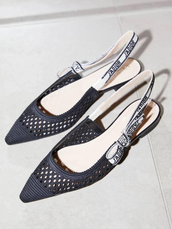 Dior  J'Adior 黑色刺繡露跟平底芭蕾舞鞋    IT 36.5/37/37.5/38/38.5/39/39.5/40/40.5/41/41.5 Bottega Veneta