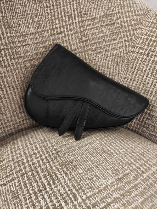 Dior 黑色 Dior Oblique Galaxy 皮革迷你 Saddle 馬鞍包 Bottega Veneta