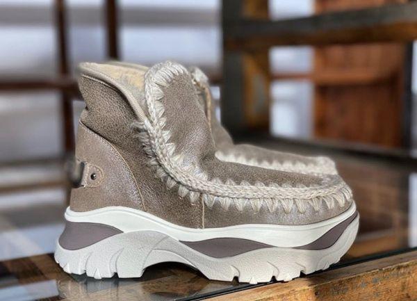 Mou英國頂級愛斯基摩Eskimo Chunky 羊毛運動靴鞋 灰色    IT35/36/37/38/39/40 YSL COLLEGE學院包