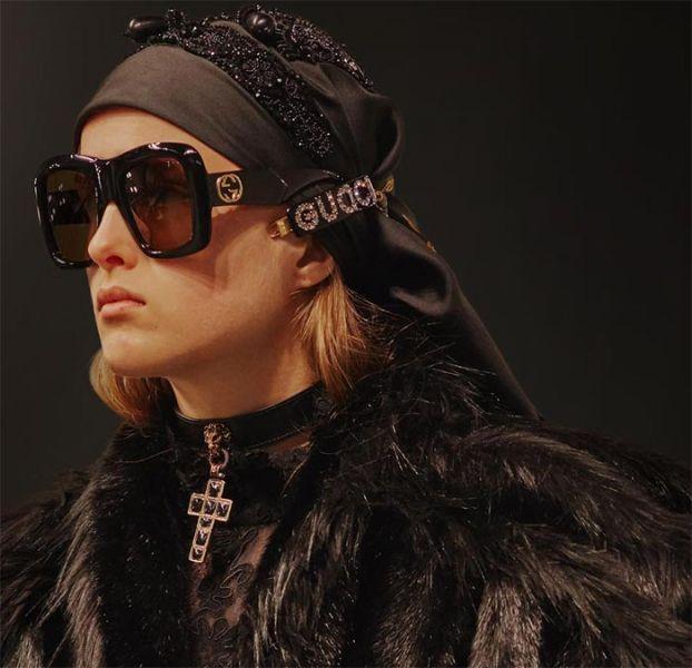 Gucci Oversized 超大方型太陽眼鏡  棕色