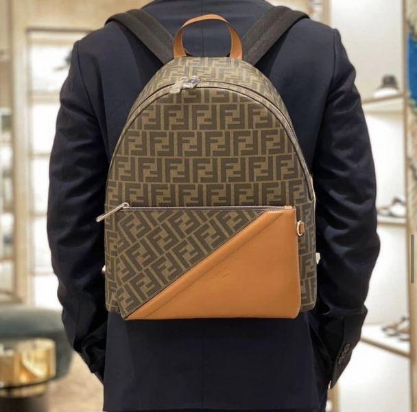 Fendi FF 7VZ042 FF 男款棕色後背包