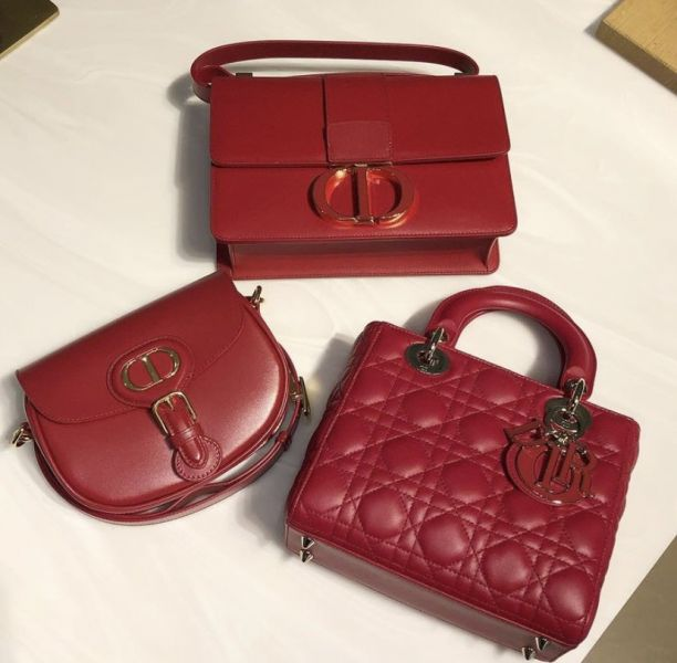 Dior 桃紅色 Cannage 藤格紋小羊皮 Lady Dior 黛妃包