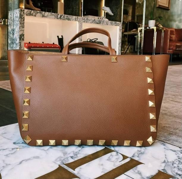 Valentino VLTN 帆布大款購物包