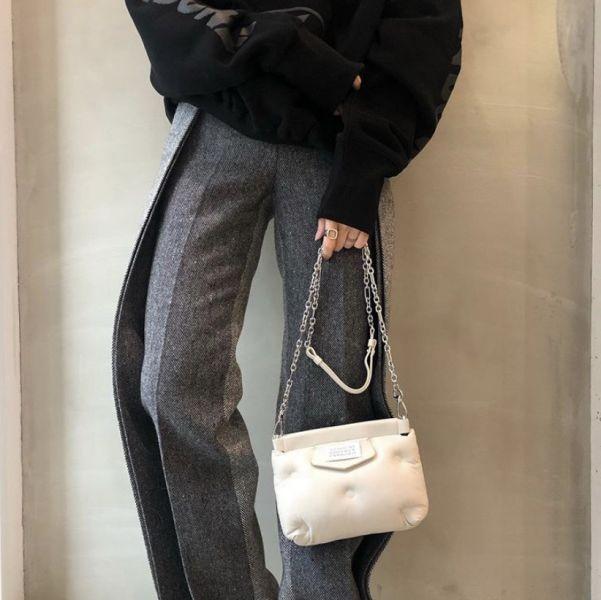 Maison Margiela 羊皮迷你 Glam Slam 雲朵包 白色 Bottega Veneta