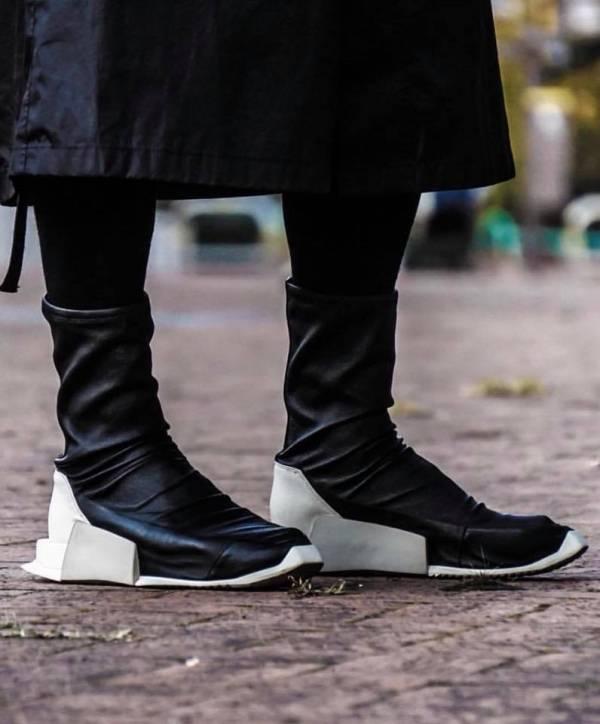 Rick Owens X Adidas level 女款彈性橡膠長筒球鞋    US 5 / 6