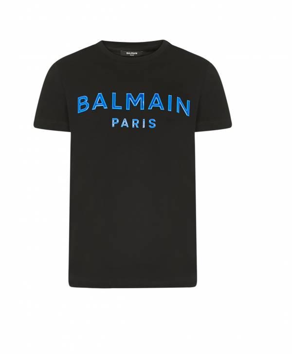 Balmain 男款徽標 藍色 Logo 純棉 直版 T Shirt 上衣  S M L