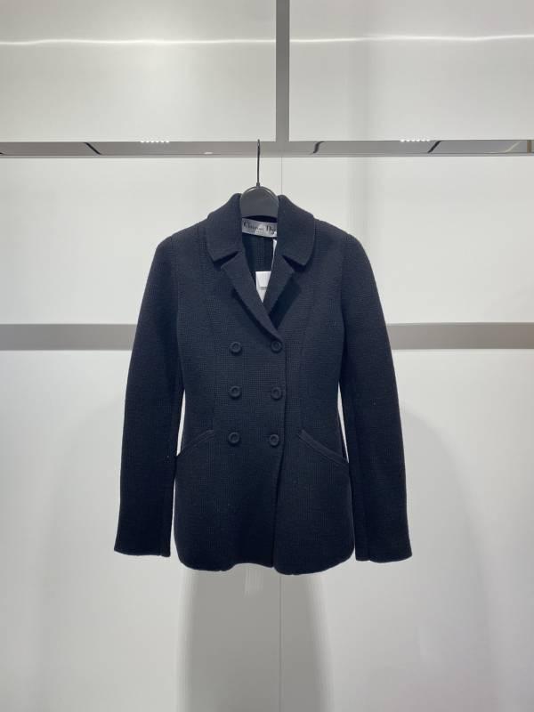Dior 女款藏青色羅紋針織BAR夾克  FR 36/38/40 Bottega Veneta
