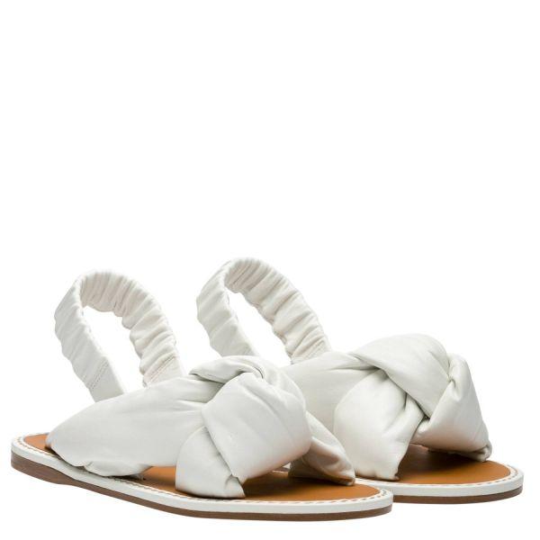 Miu Miu Nappa  軟羊皮平底皮革涼鞋 白色  IT 35.5/36/37/37.5/38/38.5/39