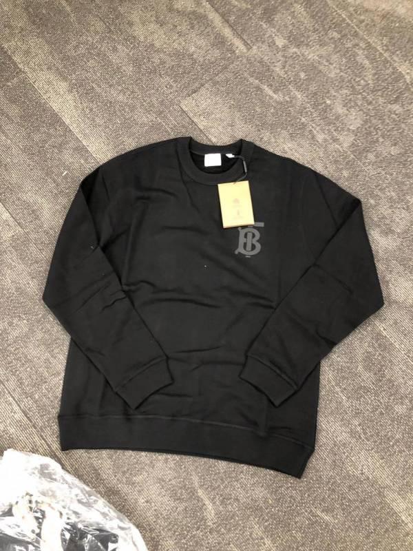 Burberry 男款花押字圖案棉質運動衫上衣    XS/S/M/L/XL