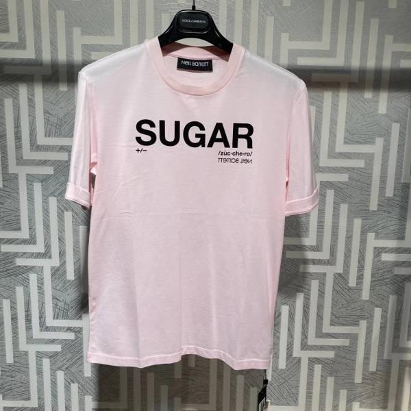 Neil Barrett 男款 Sugar 混紡棉質 T shirt 上衣 粉色    XS/S