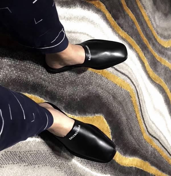 Balenciaga 636604 男款小牛皮舒適穆勒鞋   IT 40/40.5/41/41.5/42/42.5/43