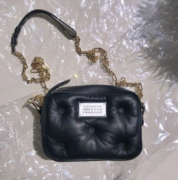 Maison Margiela Micro Box Glam Slam nappa 小羊皮相機包    黑色